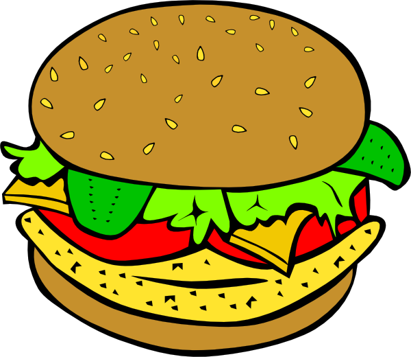Fish And Chips Clip Art Chicken Burger Clip Art #hfdSwY.