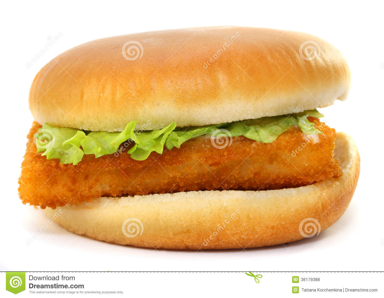 Fillet Of Fish Sandwich Royalty Free Stock Photos.