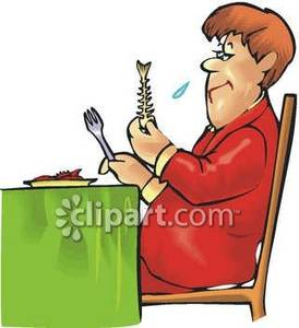 Clipart man eating.