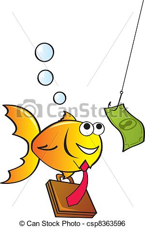 Clip Art Vector of Fished In.