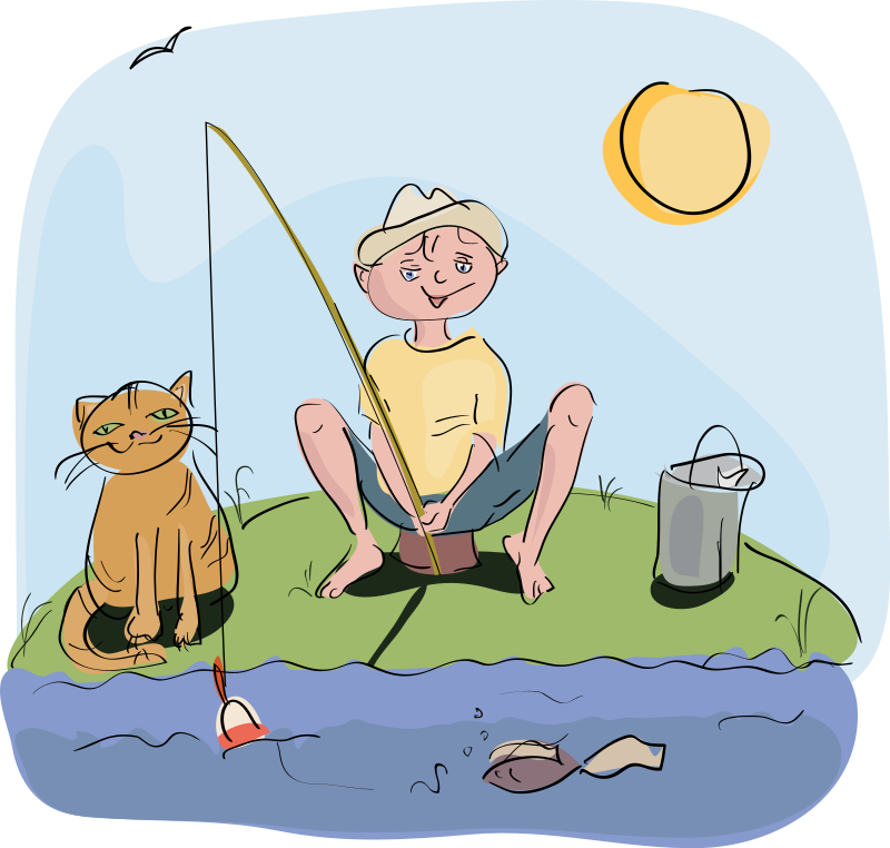 Free fishing clipart images.