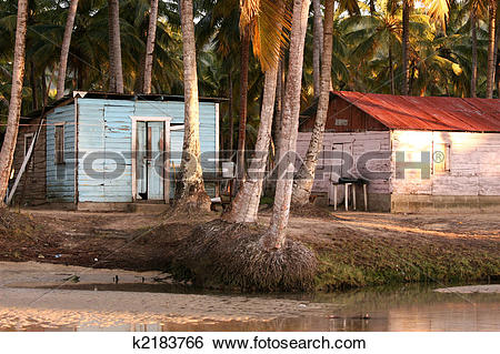 Stock Images of Fisher house in caribbean k2183766.