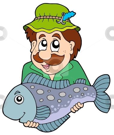 Cartoon Fisherman Clipart.