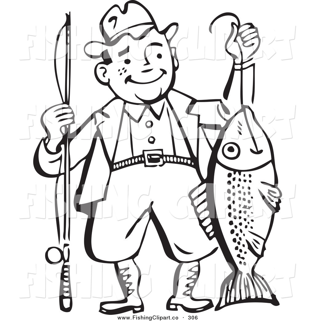 Old Fisherman Clipart.