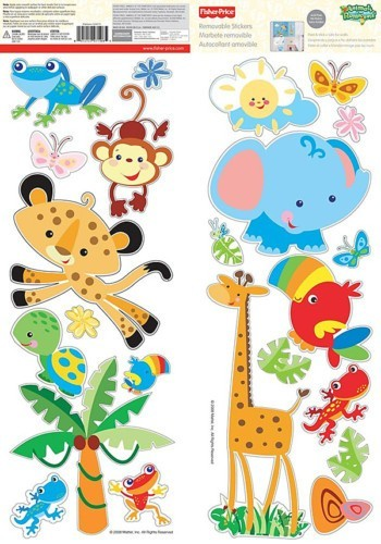 FISHER PRICE RAINFOREST ANIMALS Removable Wall Decals Room Decor.