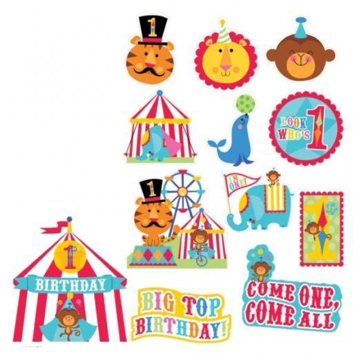 1st Birthday Fisher Price Circus Cutouts***.