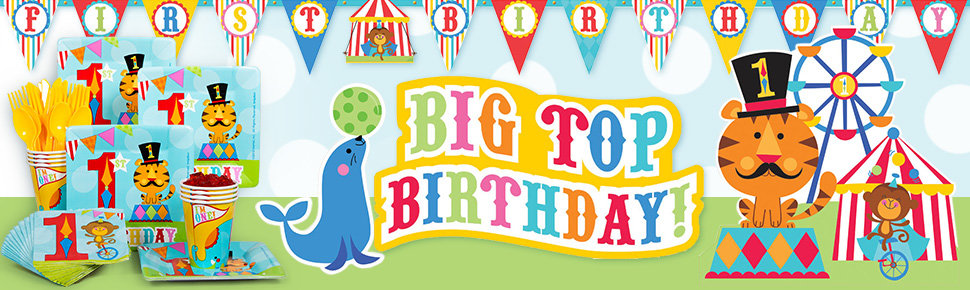 Fisher Price Circus Birthday Party Ideas, Supplies and Decorations.