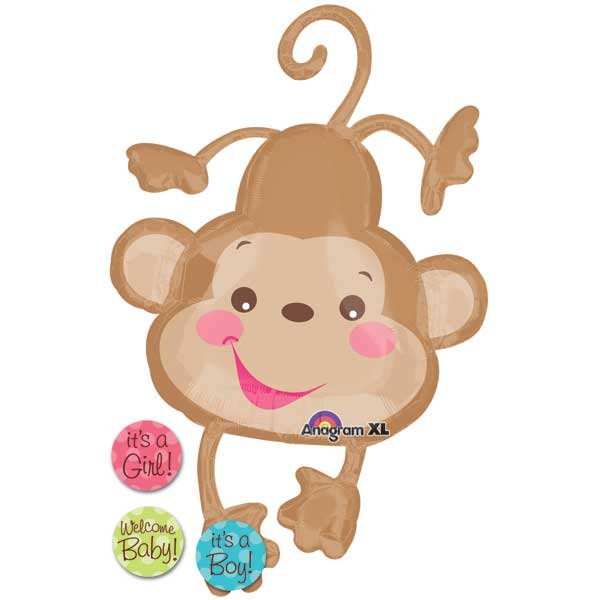 Price Baby Monkey Foil Balloon.