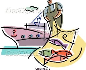 Commercial Fishing Vector Clip art.