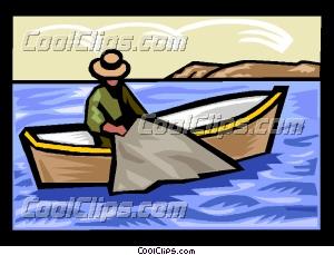 Harvesting the fisheries Clip Art.
