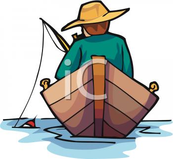 Fisherman boat clipart.