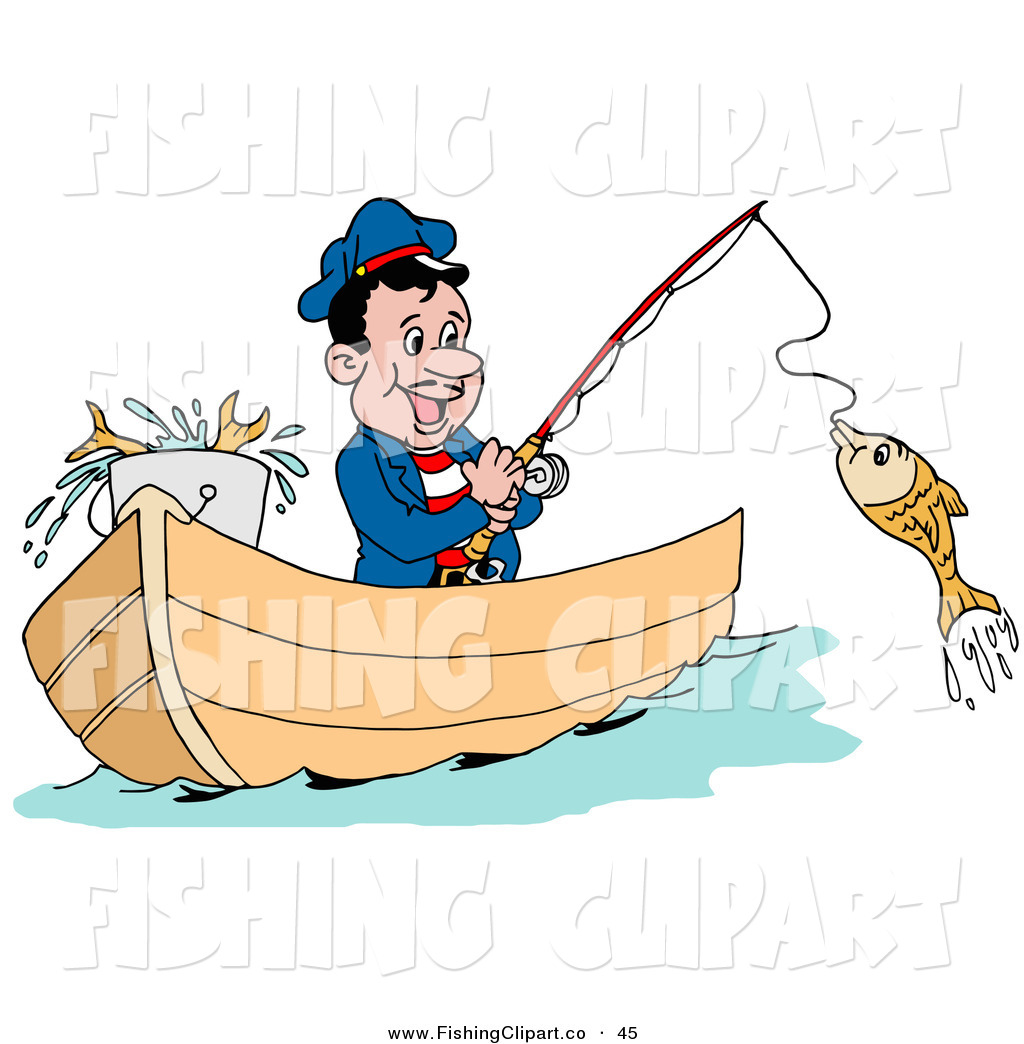 Fisherman boat clipart - Clipground