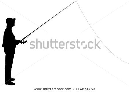 Fishing Silhouettes Stock Vector 1456890.