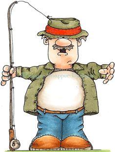 Fisherman clipart #15
