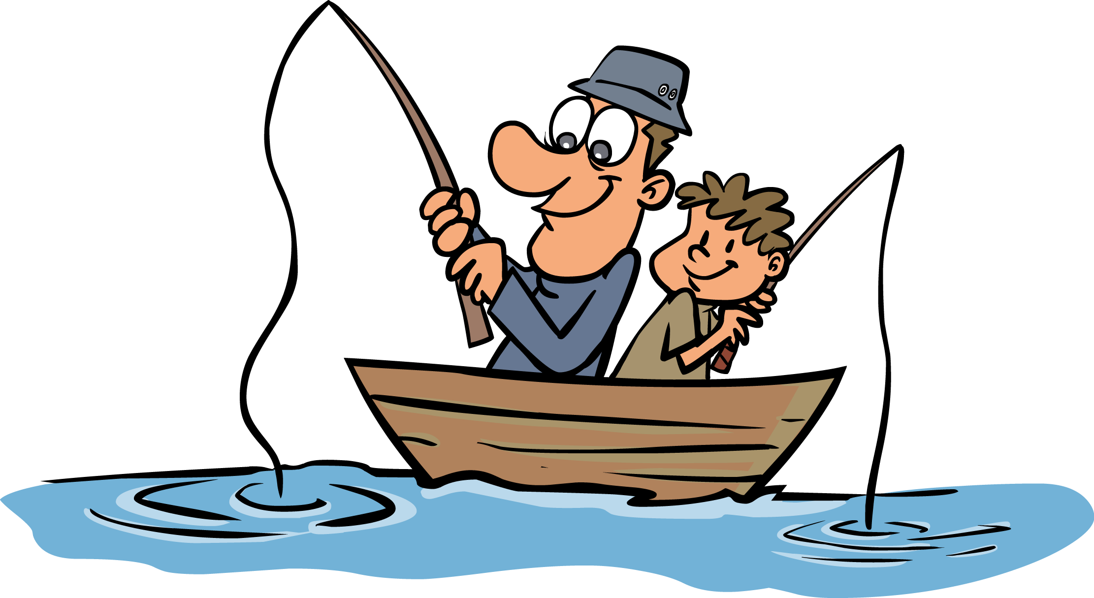 Funny Fisherman Clipart.