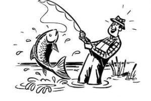 Fisherman clipart black and white 2 » Clipart Station.