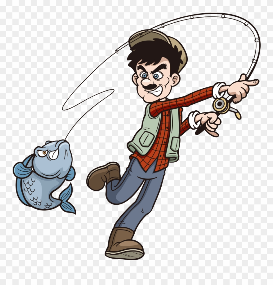 Fishing Rod Cartoon Clip Art.