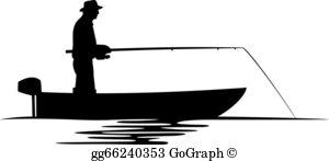 Fisherman Silhouette Clip Art.
