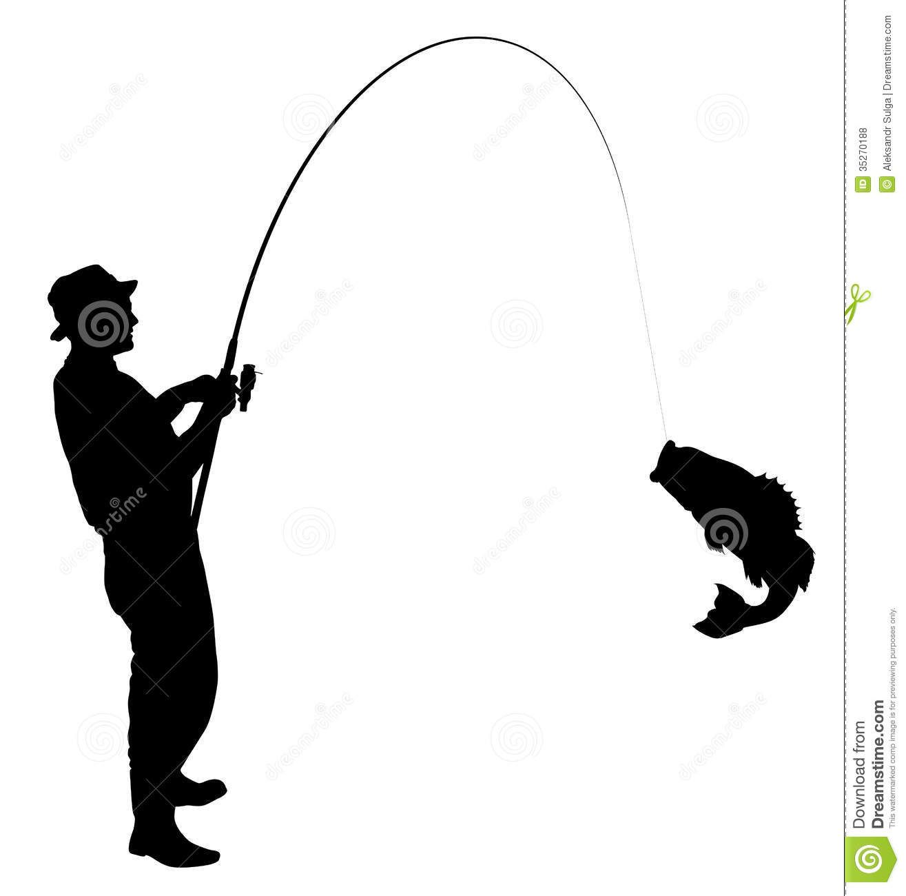 Man Fishing Silhouette Clipart Panda Free Clipart Images.