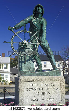 Stock Photo of Gloucester, Massachusetts, MA, Fisherman's Monument.