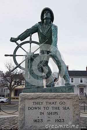 Gloucester Fisherman's Memorial, Massachusetts Stock Photo.