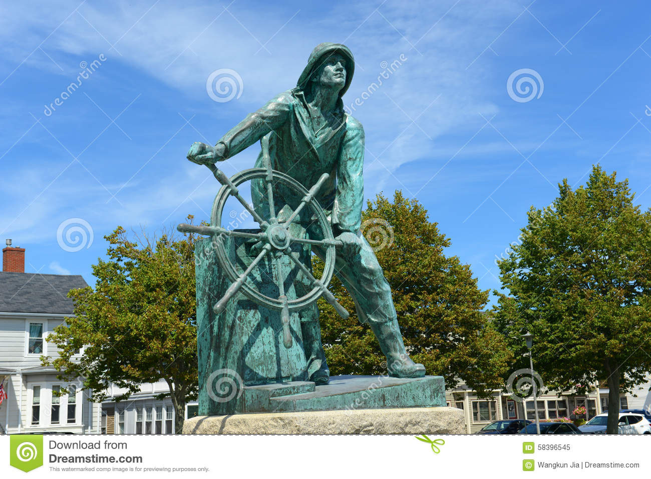 Gloucester Fisherman's Memorial Cenotaph Stock Photo.