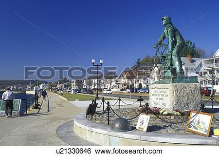 Stock Images of Gloucester, MA, Massachusetts, Fisherman's.