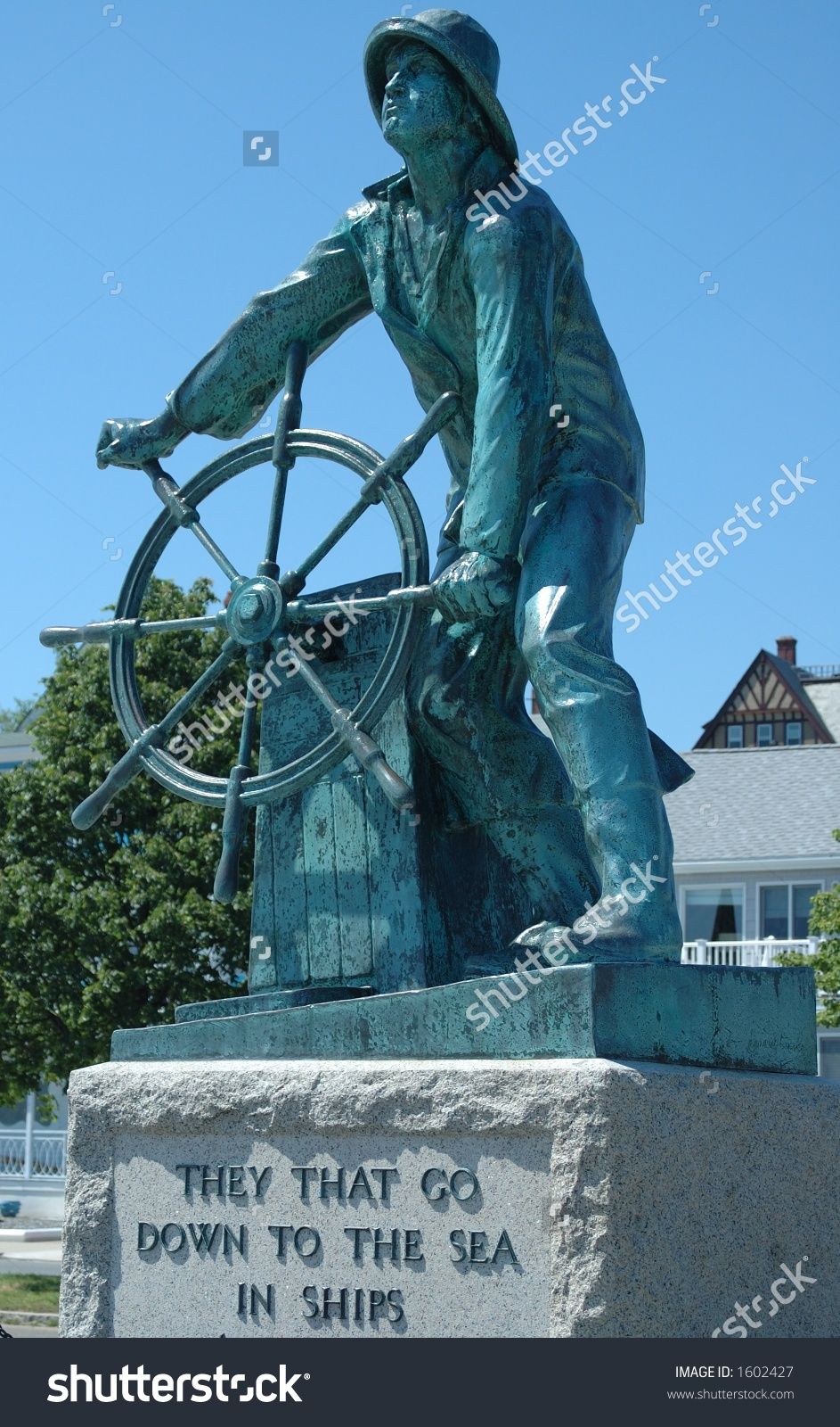 Fisherman Statue Gloucester Ma Stock Photo 1602427.