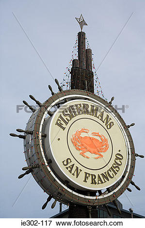 Picture of Fishermans wharf sign ie302.