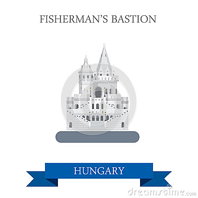 Fisherman's Bastion Budapest Stock Illustrations.