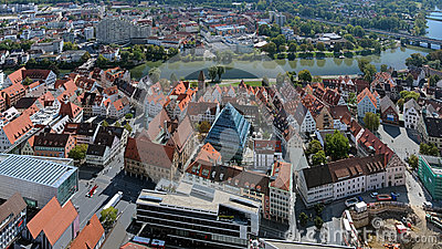 View On Ulm From The Tower Of Ulm Minster, Germany Royalty Free.