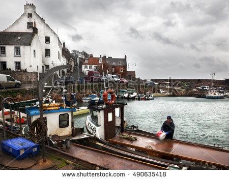 Fishermen's Houses Stock Photos, Royalty.