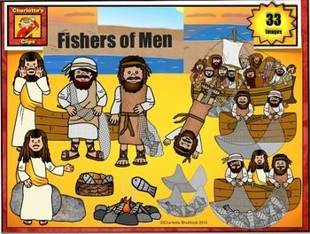Fishers of Men Clip Art: Bible Story Series by Charlotte's Clips.