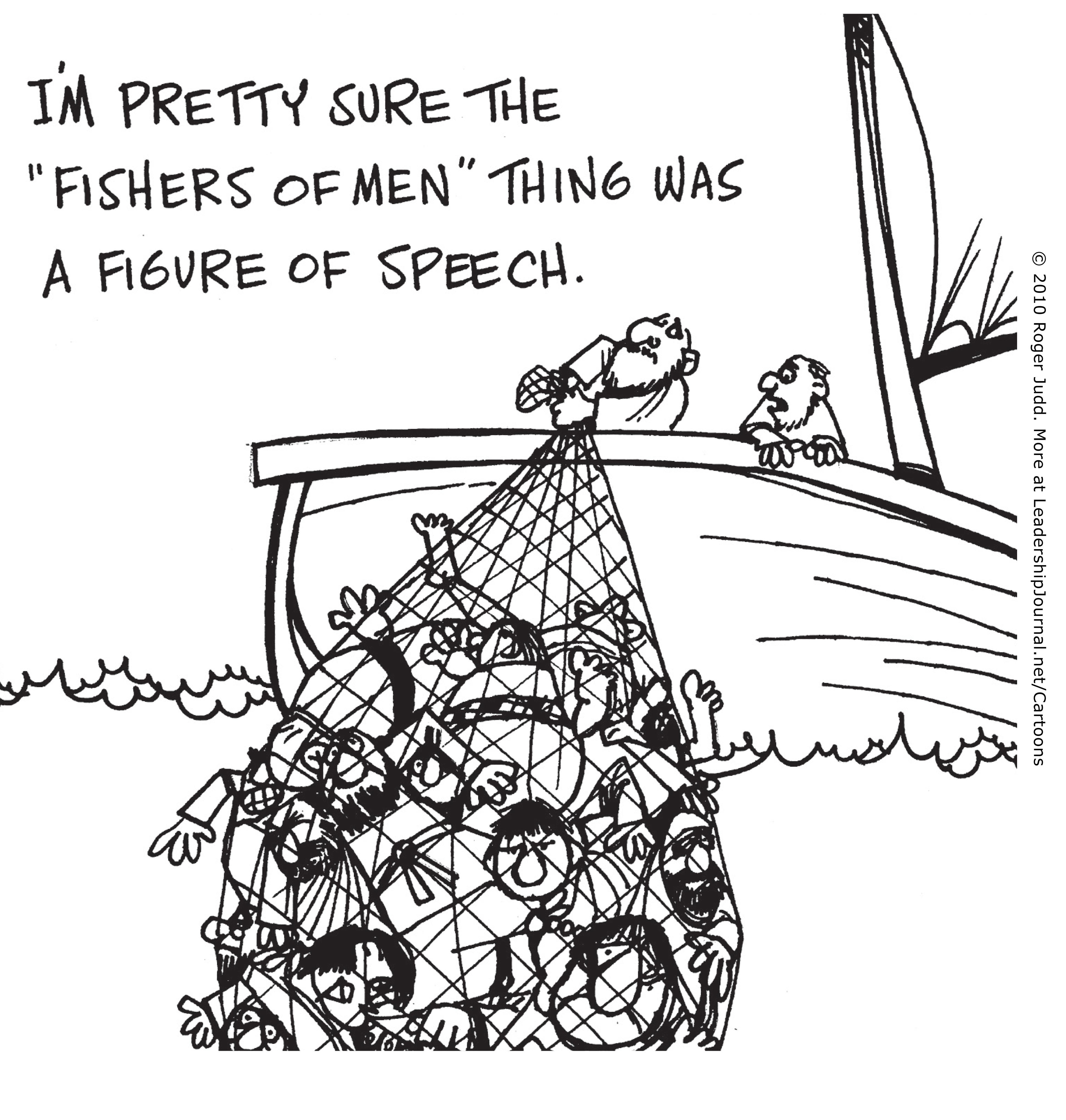 Cartoon Bible Man Fishers Of Men #e81C0O.