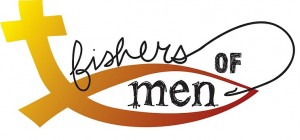 Silhouette fishers of men clipart.