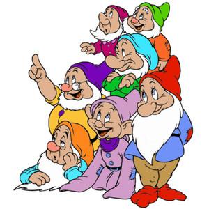 Disney's Snow White's Seven Dwarf Clipart Picture Image 1.
