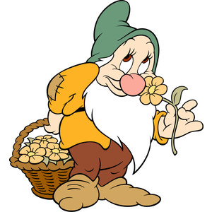 Disney's Snow White Dwarf Bashful Character Clipart Picture.