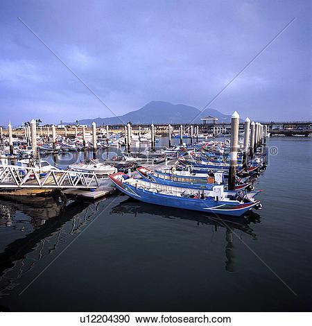 Stock Photography of Asia, Taiwan, Danshui Fisherman's Wharf.