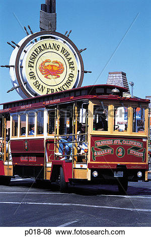 Pictures of California, San Francisco, Fisherman's Wharf sign with.