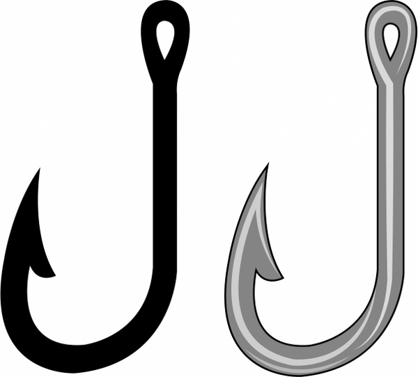 Free Fish And Hook Clip Art.