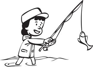 Fishing Pole Drawing.