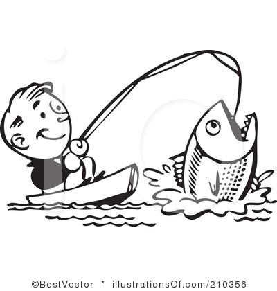 Fishing clipart black and white 1 » Clipart Station.