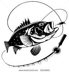 Image result for fishing rod clipart black and white.