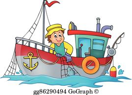 Fishing Boat Clip Art.