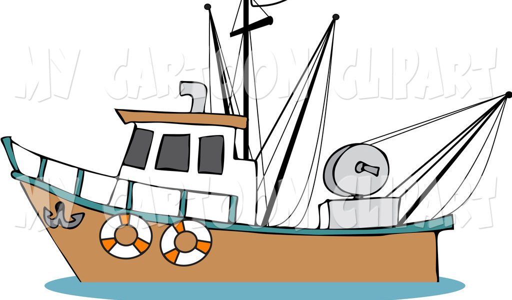 Fishing boats clipart.