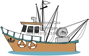 Sport Fishing Boat Clip Art.