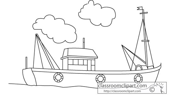 Boat black and white fishing boat clip art black and white tug.