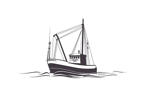 Best Fishing Boat Illustrations, Royalty.
