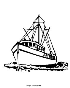 Fishing Boat Clipart Black And White (85+ images in Collection) Page 1.