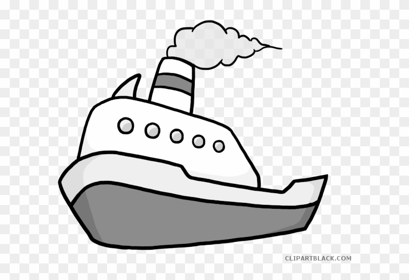 Fishing Boat Clipart Black And White.